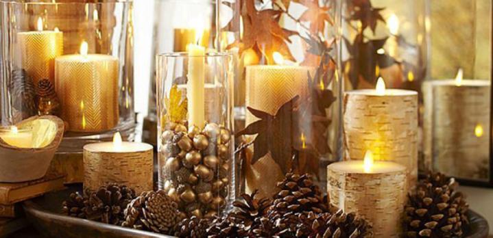 Thanksgiving pinecone decorations